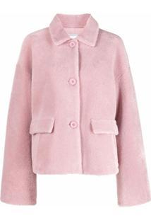 Forte Dei Marmi Couture Slogan Print Single-Breasted Jacket - Rosa