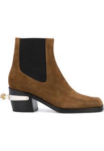 Nodaleto Ankle Boot Western Bulla - Marrom