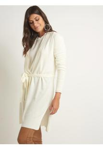 Casaco Le Lis Blanc Fran Medio Tricot Off White Feminino (Off White, Pp)