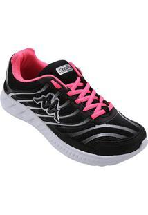 Tênis Kappa Lombardia Feminino - Feminino-Preto+Pink