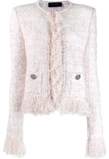 Balmain Boucle Knit Jacket - Branco
