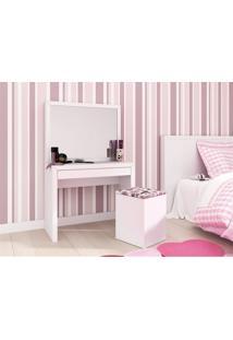 Penteadeira Com Espelho E Gaveta About Home - Branco - Multistock