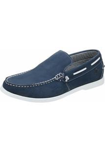 Dockside Shoes Grand Pala Lisa - Masculino-Azul