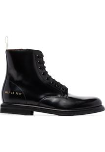 Common Projects Leather Ankle Boots - Preto