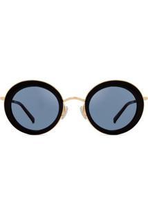Óculos De Sol Max Mara Eileen Feminino - Feminino-Preto