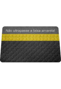 Capacho Ecológico Não Ultrapasse A Faixa Amarela Geek10 Preto