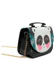 Bolsa Carmelo Shoes Mini-Bag Ursinho Preta