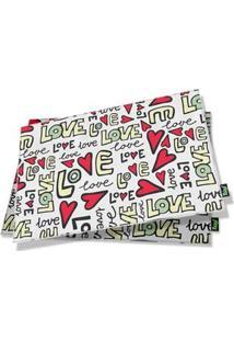Jogo Americano Love - 2 Peças
