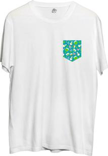 Camiseta Bsc Xadrez Pocket Sublimada Branco