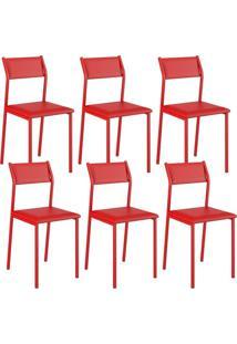 Cadeira 1709 Color Uv 06 Unidades Vermelha Carraro