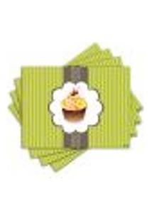 Jogo Americano - Cupcake Com 4 Peças - 717Jo