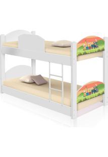 Beliche Infantil Trenzinho Com 2 Colchãµes Casah - Branco/Multicolorido - Dafiti