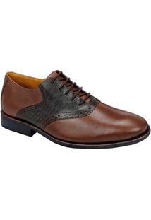 Sapato Social Sandro & Co Masculino - Masculino-Marrom Escuro