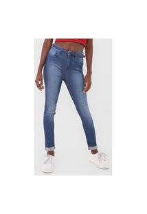 Calça Jeans Oh, Boy! Skinny Estonada Azul
