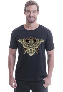 Camiseta Longline Blast Fit Preto Coruja