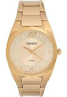 Relógio Orient Classico Feminino - Feminino-Dourado