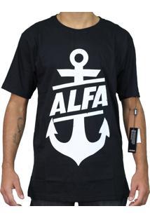 Camiseta Alfa Âncora Brands Preta