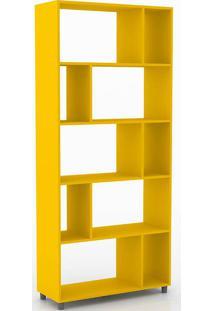 Estante Com 4 Prateleiras Retrô 212 - Movelbento - Amarelo