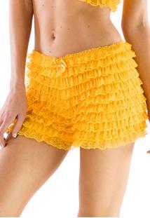 Bermuda Thais Gusmão Lolita Blythe Amarelo