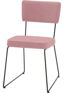 Cadeira Milan Coral Base Preta - 55891 Sun House