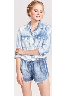 Camisa Jeans Estonada - Azulpop Up