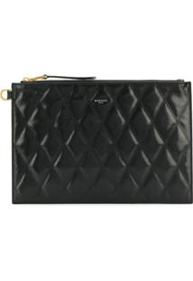 Givenchy Quilted Logo Clutch - Preto