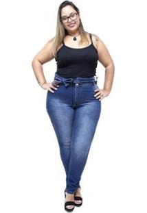 Calça Jeans Credencial Plus Size Clochard Jaciole Credencial Jeans Feminina - Feminino