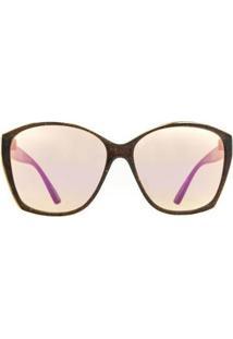 Óculos De Sol Evoke Lady Diamond Ck01/59 Feminino - Feminino-Vermelho