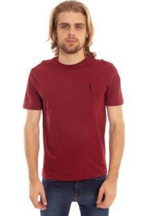 Camiseta Lisa Aleatory Masculina - Masculino-Vinho