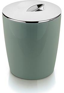 Lixeira Cromo Vitra Verde Ou 5L (Verde)