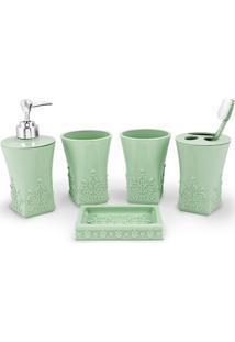 Kit Banheiro Com 5 Peças Jacki Design - Unissex-Verde