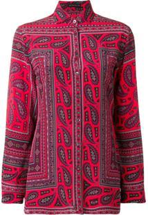 Etro Blusa De Seda Com Estampa Mosaico - Rosa