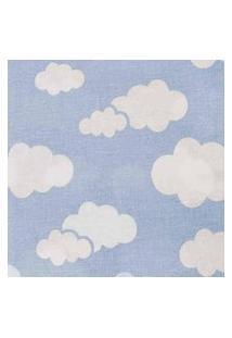 Cobertor Rolo Bordado 0.90X1,10M Alvinha Ref.5947 / 5946 / 5948 - Minasrey-Azul
