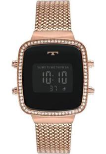 Relógio Technos Trend 34Mm Aço Feminino - Feminino-Rosê