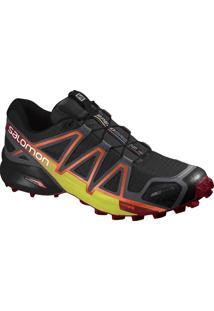 Tênis Speedcross 4 Cs Masculino 39 Preto/Vermelho - Salomon