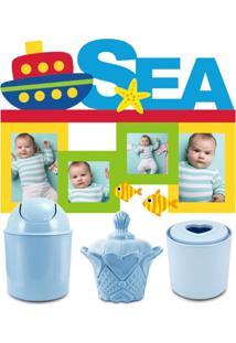 Conjunto Lifestyle Organizadores Com Adesivo Para Criança Jacki Design Azul