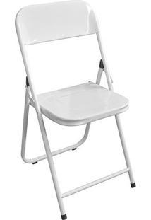 Cadeira Dobrável Aço Branca Utilaço