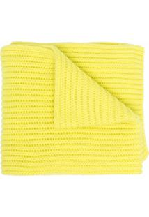 Pringle Of Scotland Cachecol Scottish Canelado De Cashmere - Amarelo
