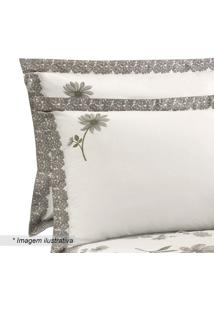 Fronha Em Percal Visione Milena - Bege & Taupe - 70Xbuettner