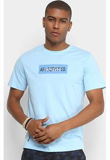 Camiseta Cavalera Art Suply Masculina - Masculino-Azul Turquesa