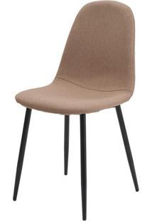 Cadeira Jacob Cor Caqui Pes Palito Metal Preto - 38239 - Sun House