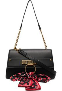 Love Moschino Bow-Detail Shoulder Bag - Preto