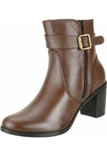 Bota Art Shoes Ankle Boot - Feminino-Marrom