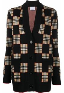Burberry Cardigan Oversized - Preto