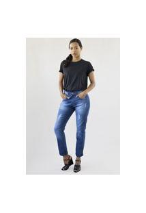 Calça Jeans Feminina Boyfriend Premium Chicago