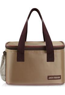 Bolsa Térmica Com Inscrição Da Marca- Bege Escuro & Marrjacki Design