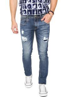 Calça Jeans Zune Skinny Indigo Zune Azul
