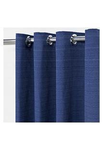 Cortina Rústica Lisa 2,80 M X 2,30 M - Azul Marinho