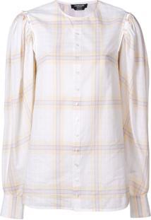 Calvin Klein 205W39Nyc Blusa Com Padronagem Xadrez - Branco