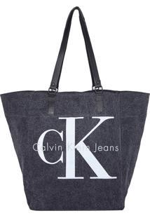 Bolsa Calvin Klein Jeans Logo Cinza